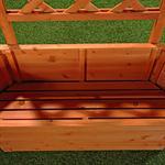 Ovaler Blumenkübel aus Holz inkl. Rankgitter Pic:3
