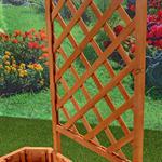 Ovaler Blumenkübel aus Holz inkl. Rankgitter Pic:4