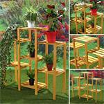 Blumenampel Blumenständer Blumentreppe aus Holz