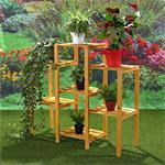 Blumenampel Blumenständer Blumentreppe aus Holz Pic:1