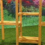 Blumenampel Blumenständer Blumentreppe aus Holz Pic:3