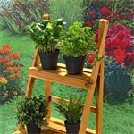 Blumentreppe Pflanztreppe Blumenständer aus Holz Pic:2