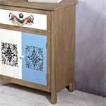 Sideboard Wandschrank shabby weiß/blau/braun/grau Pic:2