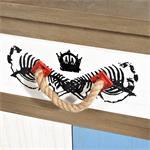 Sideboard Wandschrank shabby weiß/blau/braun/grau Pic:3