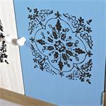 Sideboard Wandschrank shabby weiß/blau/braun/grau Pic:4