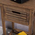 Telefontisch Nachttisch Regal in braun Pic:3