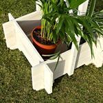 Blumenkübel mit Rankgitter Holz - Weiß Pic:3