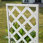 Blumenkübel mit Rankgitter Holz - Weiß Pic:4