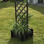 Blumenkübel mit Rankgitter Holz - Schwarz Pic:1