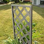Blumenkübel mit Rankgitter Holz - Grau Pic:3