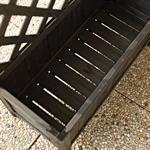 Pflanzkasten mit Rankgitter aus Holz - Schwarz Pic:5
