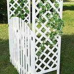 Rosenbogen mit zwei Türen aus Holz - Weiß Pic:4