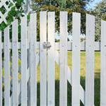 Rosenbogen mit zwei Türen aus Holz - Weiß Pic:5