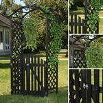 Rosenbogen mit zwei Türen aus Holz - Schwarz
