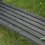 Holzgartenbank mit zwei Blumenkästen - Schwarz Pic:4