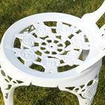 Garten Tisch mit 2 Stühlen aus Aluminium - weiß Pic:3
