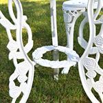 Garten Tisch mit 2 Stühlen aus Aluminium - weiß Pic:5