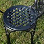 Garten Tisch mit 2 Stühlen aus Aluminium - schwarz Pic:3