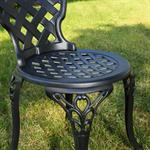Garten Tisch mit 2 Stühlen aus Aluminium - schwarz Pic:4