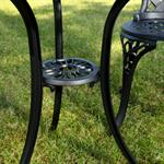 Garten Tisch mit 2 Stühlen aus Aluminium - schwarz Pic:5