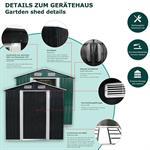 Metall Gartenhaus Geräteschuppen -  Grün Pic:1