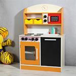 Spielküche / Kinderküche aus Holz - orange Pic:1