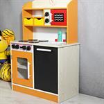 Spielküche / Kinderküche aus Holz - orange Pic:2