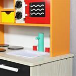 Spielküche / Kinderküche aus Holz - orange Pic:3