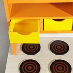 Spielküche / Kinderküche aus Holz - orange Pic:4