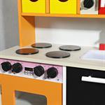 Spielküche / Kinderküche aus Holz - orange Pic:7