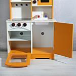Spielküche / Kinderküche aus Holz - Orange Pic:6