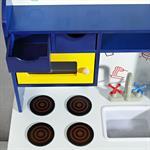 Spielküche / Kinderküche aus Holz - Blau/Weiß/Gelb Pic:4