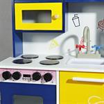 Spielküche / Kinderküche aus Holz - Blau/Weiß/Gelb Pic:7