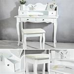 Schreibtisch Sekretär im Landhaus Stil - weiß