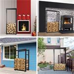 150x80CM Kaminholzständer Brennholzregal Pic:2