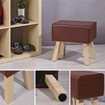 Design Kunstleder Sitzhocker / Springbock