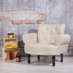 Barock Sessel Polstersessel in Creme Pic:1