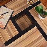 Couchtisch Wohnzimmertisch braun / schwarz Pic:3