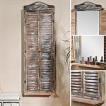 Standspiegel aus Holz in Shabby Braun