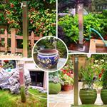95CM Edelstahl Gartenzapfsäule Wassersäule Pic:2