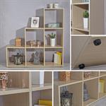 Treppenregal Raumteiler Bücherregal - Braun