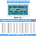 605x80CM Solarheizung Poolheizung Solarkollektor Pic:7
