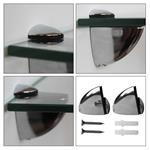 Glasboden inkl. 2 Edelstahlhalter - 200x100x6 mm Pic:2