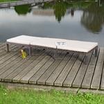 Rattan Garten Sonnen Liege Braun  inkl. Auflage Pic:2