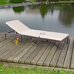 Rattan Garten Sonnen Liege Braun  inkl. Auflage Pic:3