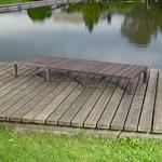 Rattan Garten Sonnen Liege Braun  inkl. Auflage Pic:4