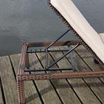 Rattan Garten Sonnen Liege Braun  inkl. Auflage Pic:6