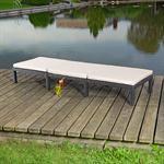 Rattan Garten Sonnen Liege Schwarz  inkl. Aufllage Pic:2
