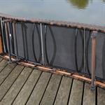 Polyattan Gartenliege Terrassenliege  in Braun Pic:6
