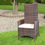 Verstellbarer Polyrattan Sessel inkl. Kissen Braun Pic:1